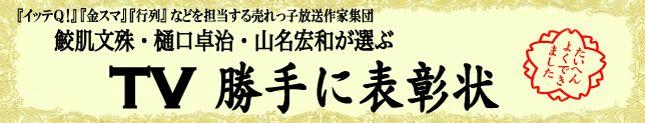 TV勝手に表彰状