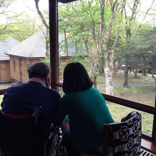 [写真]大涌谷が立ち入り禁止になったGW。神足氏は家族と箱根にいた。