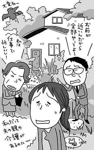 親の家,空き家,介護,上田惣子