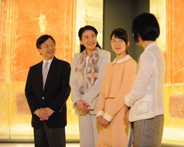 皇太子ご夫妻の「成婚23年」の前々日に、『ポンペイ壁画展』を訪問された(2016年6月7日)