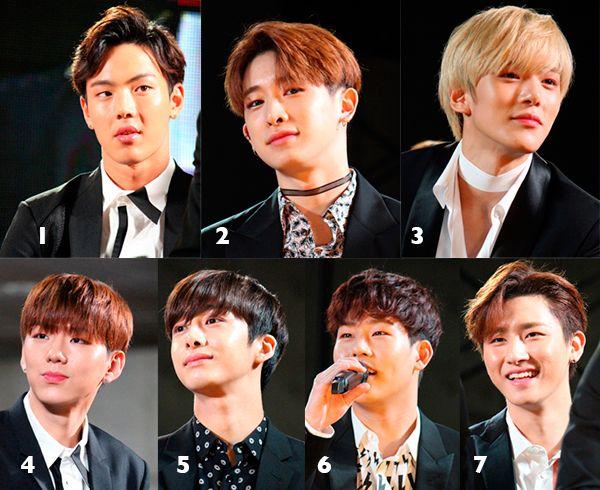 写真/MONSTA Xのメンバー。1=ショヌ、2=ウォノ、3=ミンヒョク、4=ギヒョン、5=ヒョンウォン、6=ジュホン、7=I.M.